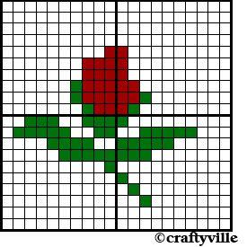 rose knitting chart pattern