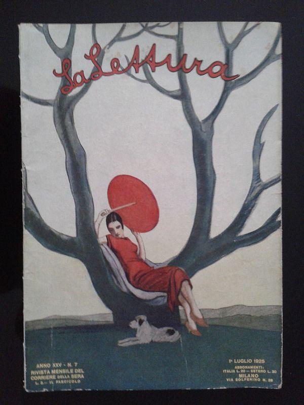 La lettura - 1925 - Italia Cover di Marcello Dudovich     #TuscanyAgriturismoGiratola
