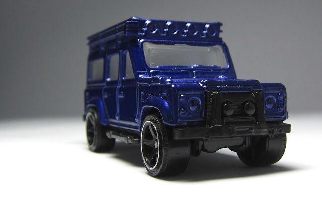 Matchbox : Mattel preproduction model : #LandRover Defender 110 retool E/P , non production Dark blue body, unpolished window , black interior