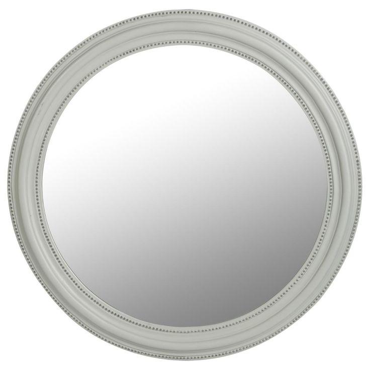 miroir rond gris en bois d60 miroir gris en verre contour. Black Bedroom Furniture Sets. Home Design Ideas