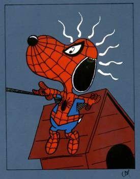 SNOOPY ~Spiderman Más imprimibles GRATUITOS en  http://www.fiestuqueando.blogspot.com.es