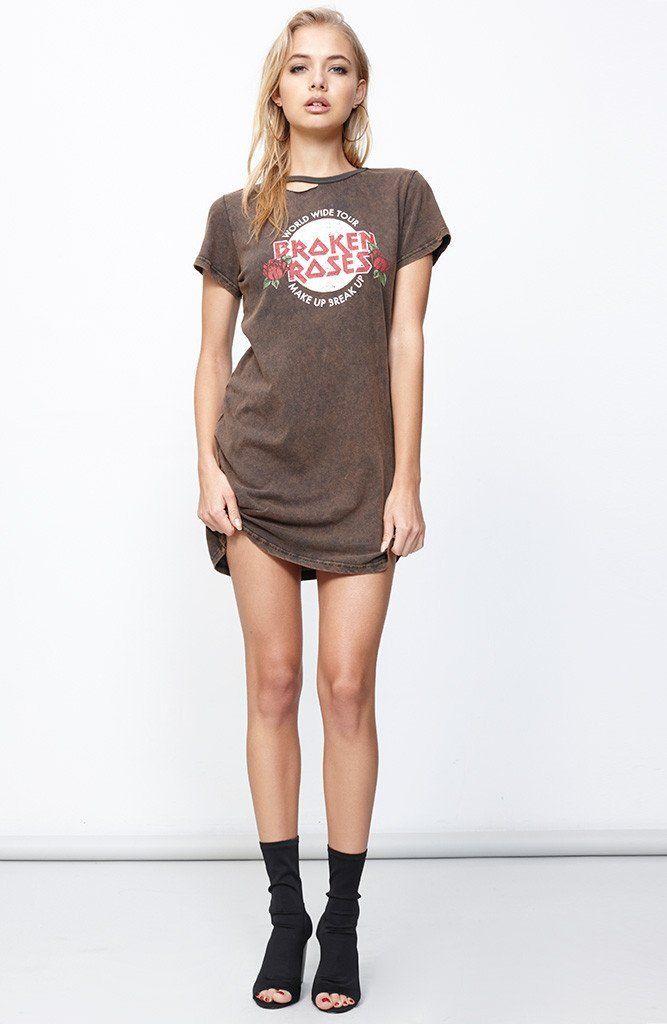 MINKPINK - Mp1702150 Minkpink Broken Roses T-Shirt Dress - Multi