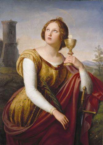 Heilige Barbara-by Friedrich Wilhelm Schadow