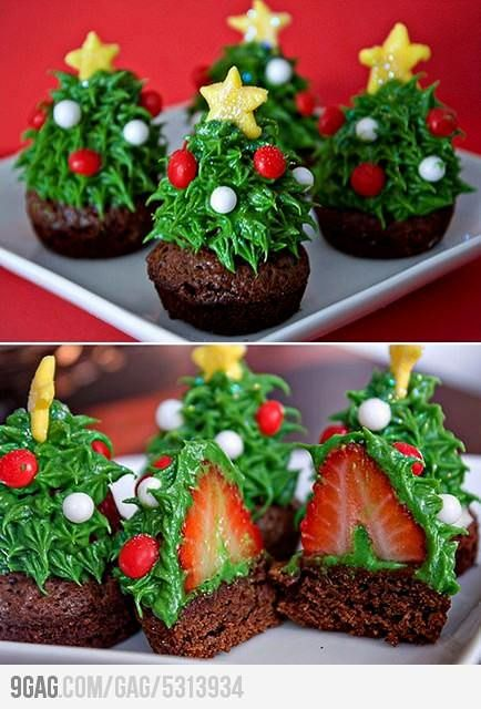 I would eat these Christmas trees!: Christmas Food, Idea, Christmas Cupcake, Holidays, Christmas Tree Cupcakes, Christmas Trees