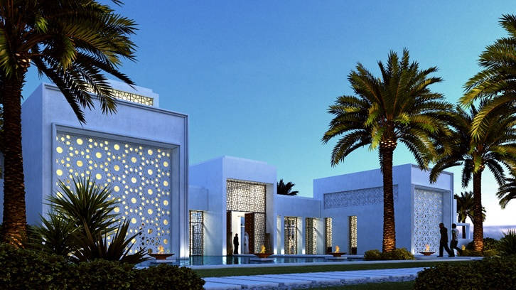 Private villa in sharjah by lw design modern arabic for Modern house uae