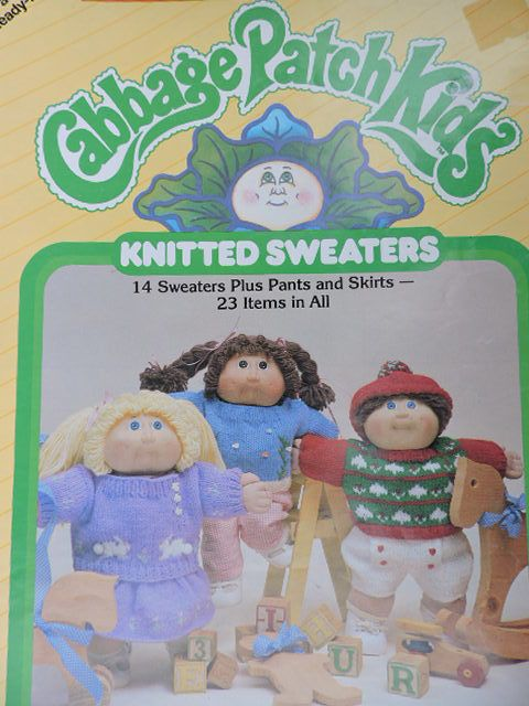 SeeSallySew.com - Cabbage Patch Kids Knitted Sweaters Pants Skirts Xavier Roberts Presents 7866 Pattern Book , $10.00 (http://stores.seesallysew.com/cabbage-patch-kids-knitted-sweaters-pants-skirts-xavier-roberts-presents-7866-pattern-book/)