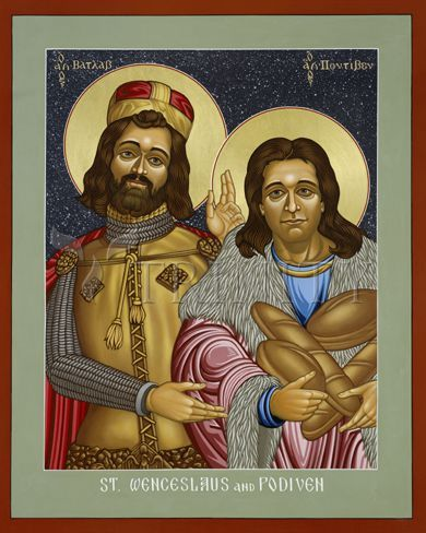 """St. Wenceslaus (Vaclav) and Podiven, his assistant 