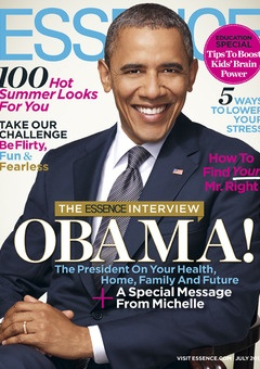 President Obama Graces the July Issue of ESSENCE. As the Election 2012 season ramps up, ESSENCE sits down exclusively with President Obama to hear his plan for improving the economy, our health, homes and future, and why he's excited about the next four years.