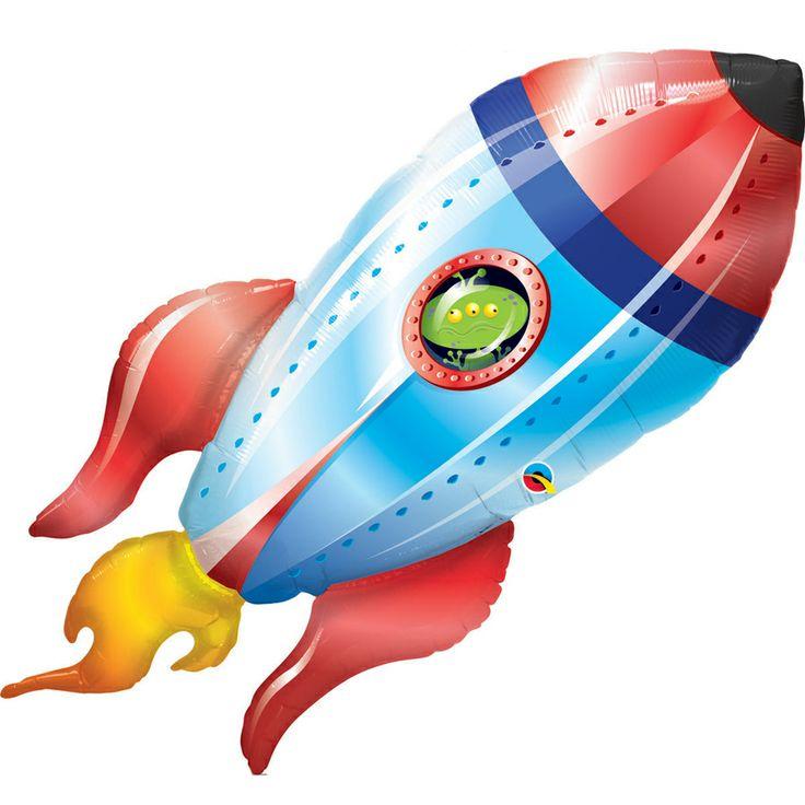 Ballon Fusée géant (1 mètre !) - Annikids