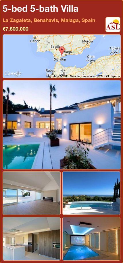 5-bed 5-bath Villa in La Zagaleta, Benahavis, Malaga, Spain ►€7,800,000 #PropertyForSaleInSpain