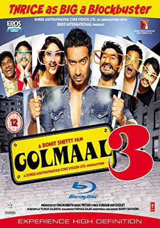 Golmaal 3 2010 BluRay 950MB Full Hindi Movie Download 720p Watch Online Free Worldfree4u 9xmovies