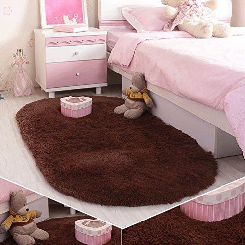 moonrug Ultra Soft Fluffy Oval Area Rugs Shaggy Living Room ...