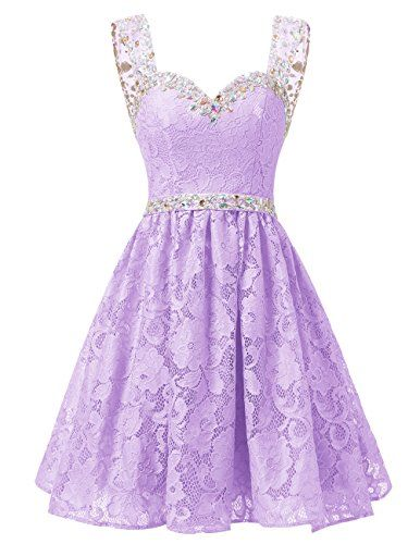 Dresstells® Short Chiffon Strapless Prom Dress With B…