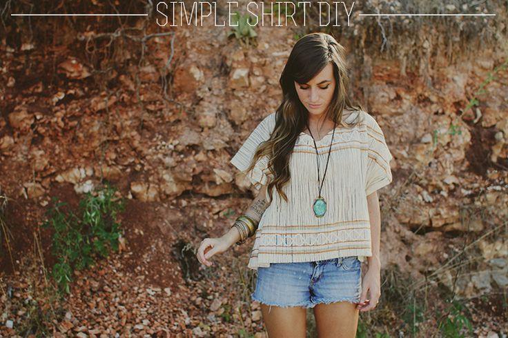 DIY: simple shirt: Sewing Simple, Sincerely, Shirts Diy, Diy Simple, Diy'S, Clothing Diy, Curtains Fabrics, Simple Shirts, Diy Shirts