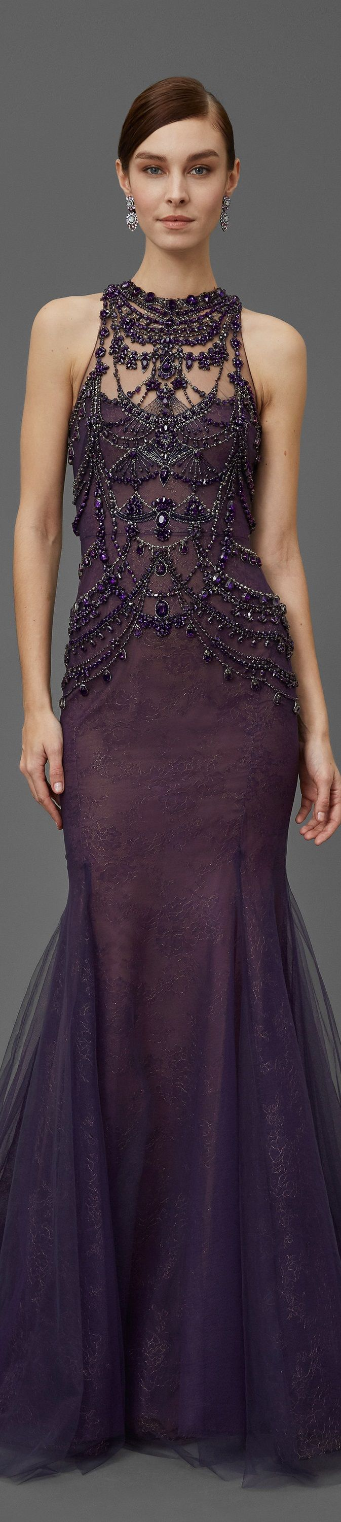 Marchesa Pre Fall 2016 women fashion outfit clothing style apparel @roressclothes closet ideas