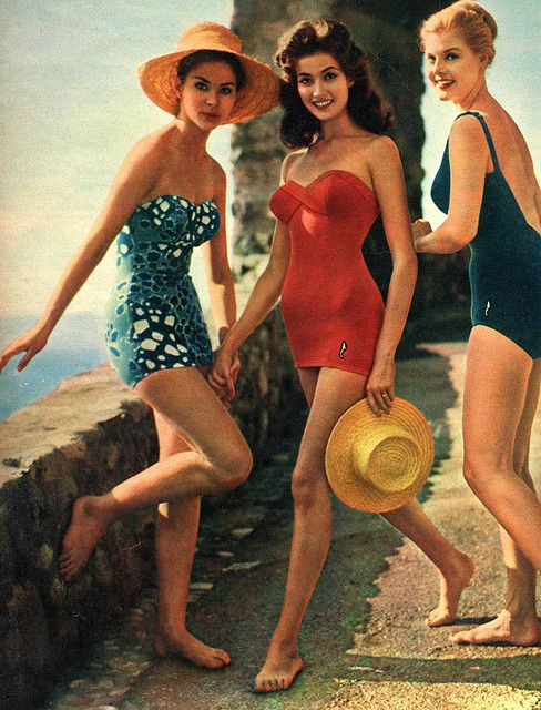 beautiful vintage bathing suits. so classy.