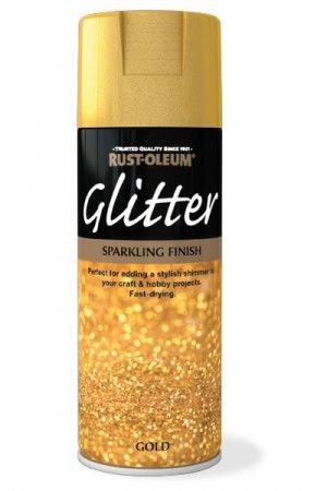 Glitter » Rustoleum Spray Paint - sparkling finish for crafts in gold or silver