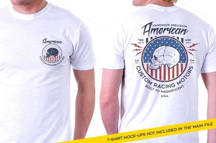 Custom Racing Motors T-Shirt by Rooms Design Shop on Creative Market