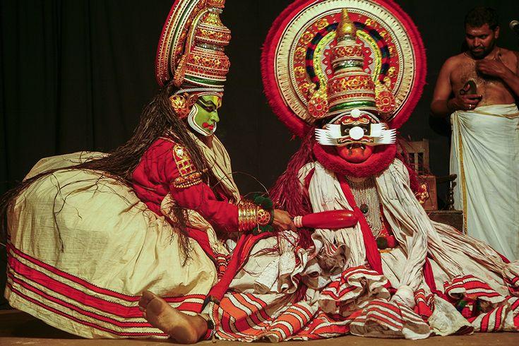 Kathakali traditional performance, Kerala, India