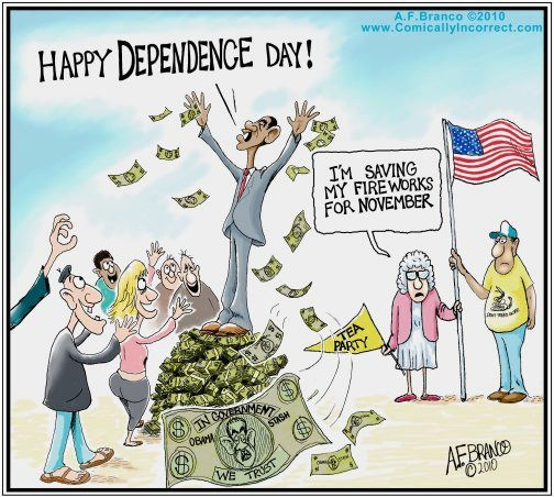 Obama and Independence Day. #republican #democrat #humor
