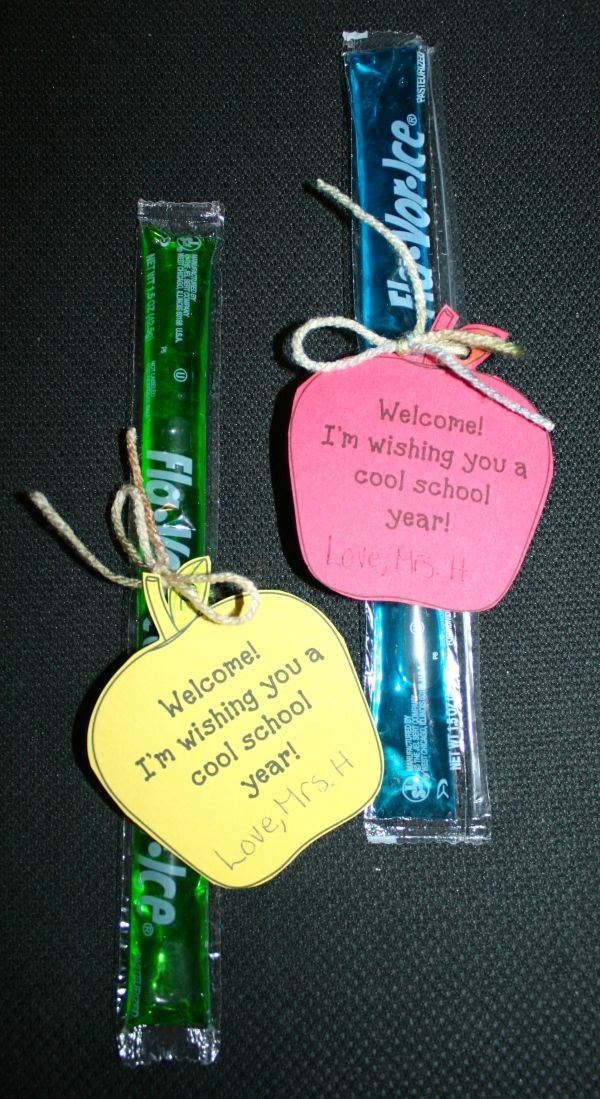 Back To School Popsicle treats. FREE tag template. Quick, easy & inexpensive to make!