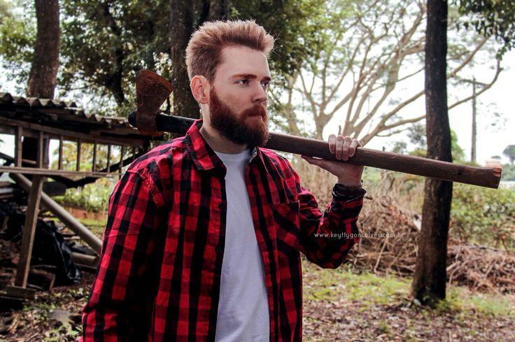 #beard #lumberjack #lumbersexual #barba #barbaruiva #reidabarba