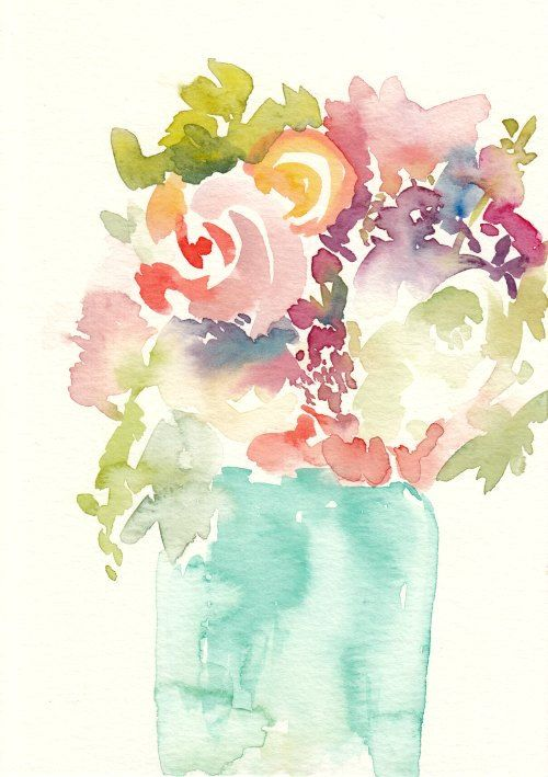 A personal favorite from my Etsy shop https://www.etsy.com/listing/238592100/semi-abstract-floral-original-watercolor