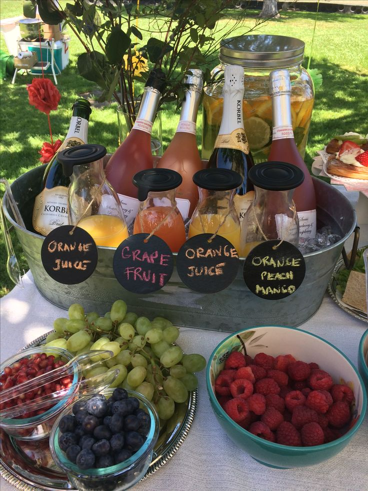 Spiked mimosa bar - add bottles of infused liquor