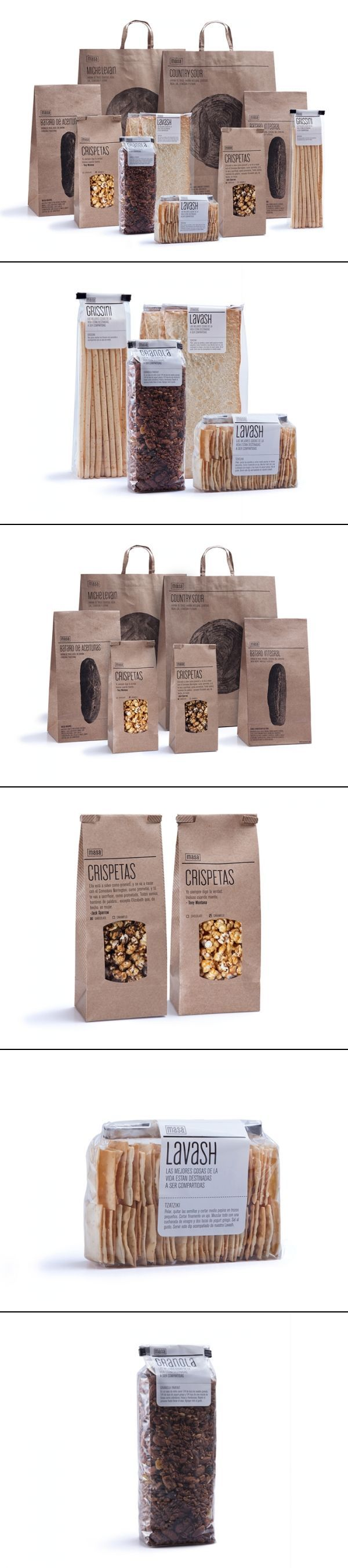 Brown bag packaging