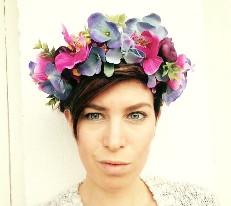 There are several colorful #flowercrowns available in the shop. https://www.etsy.com/listing/290237217/purple-pink-and-yellow-colored-handmade #burningman #festival #coachella #floral #design #fashion #accessories