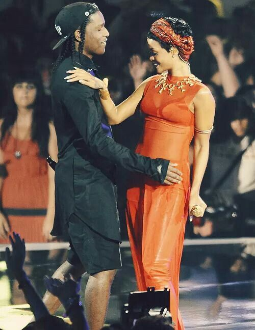 ASAP Rocky with Rihanna