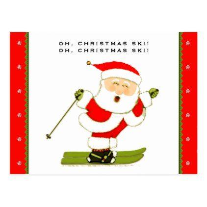 #Ski Holidays Postcard - #Xmascards #ChristmasEve Christmas Eve #Christmas #merry #xmas #family #holy #kids #gifts #holidays #Santa #cards