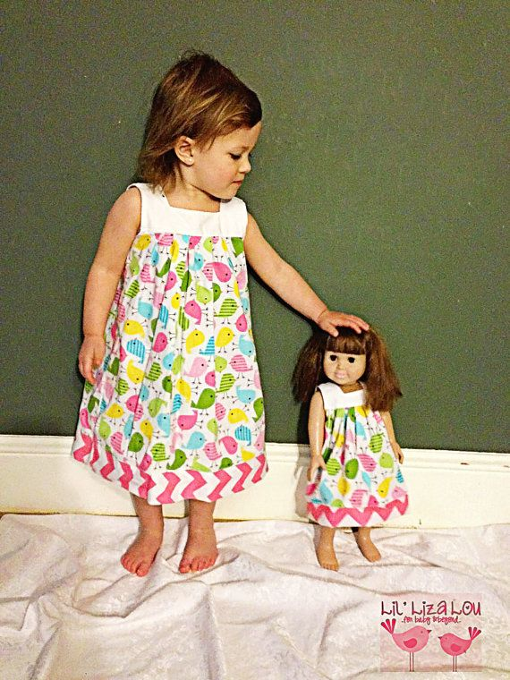 Doll Dress Pattern fits American Girl - Printable Doll Pattern - PDF - Instant Download