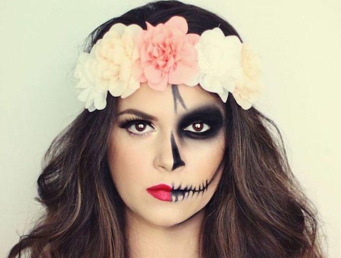 Les 25 meilleures id es de la cat gorie maquillage de squelette sur pinterest maquillage - Maquillage halloween mexicain ...