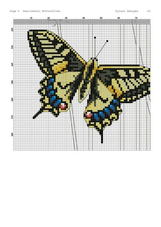 Gallery.ru / Фото #14 - Ajisai Designs - Swallowtail Butterflies - tymannost