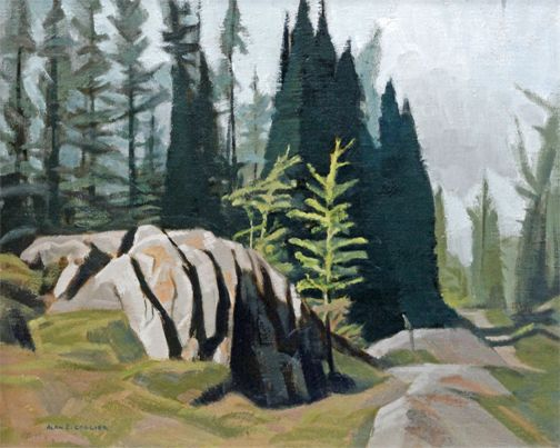 Alan Collier - Trail At Lake O'Hara 16 x 20 Oil on board (1982)