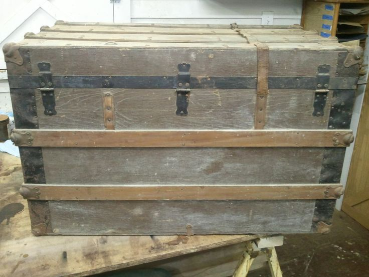 The Restored Steamer Trunk     A recent project to come through the shop was the restoration of an old steamer trunk.The customer who own...