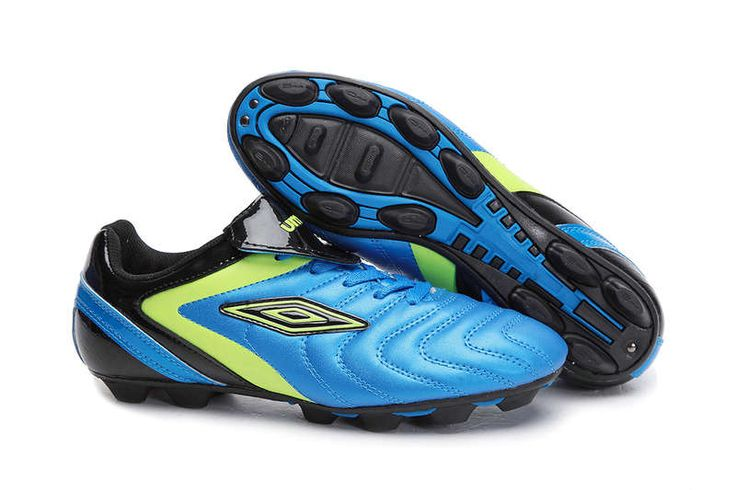 Umbro Cup AG Soccer Cleats Blue Green Black