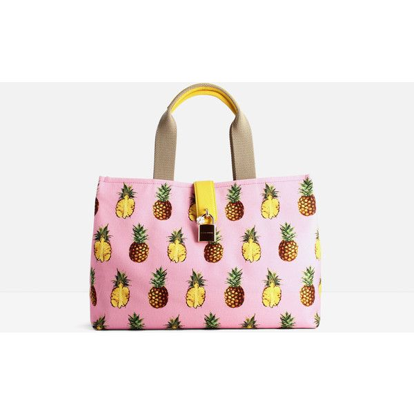 Dolce & Gabbana Dolce & Gabbana Pineapple Printed Tote ($742) ❤ liked on Polyvore featuring bags, handbags, tote bags, pink, leopard print purse, pink tote purse, dolce gabbana handbags, leopard purse and pink tote bags