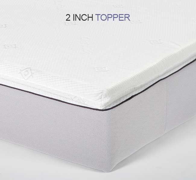 Deluxe Small Double Memory Foam Mattress Topper – 2 Inch