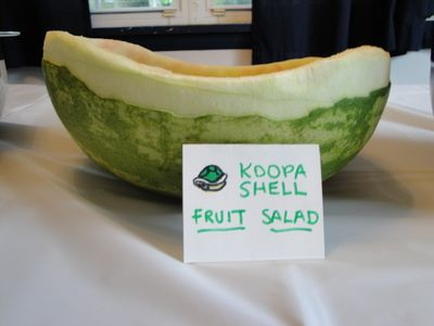 Koopa shell fruit salad for Mario party