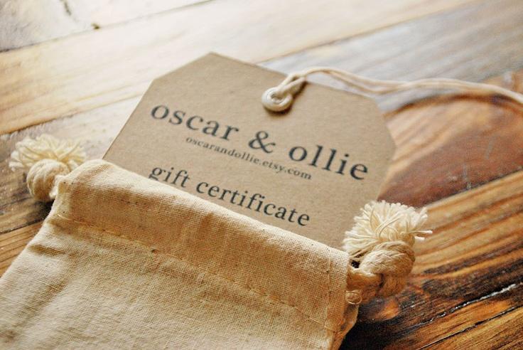 25 dollar gift certificate for oscar & ollie gift by oscarandollie