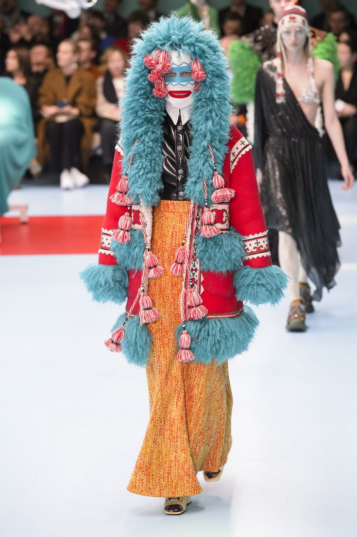 Be yourself, love yourself. Fashion's mad professor Alessandro Michele unveils his Gucci Cyborg; featuring sleeping dragon babies, faun horns and eyes on hands.