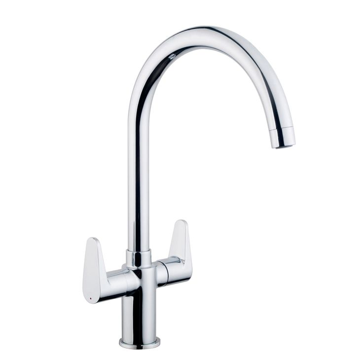 Cooke & Lewis Kigal Chrome Finish Kitchen Monobloc Tap | Departments | DIY at B&Q