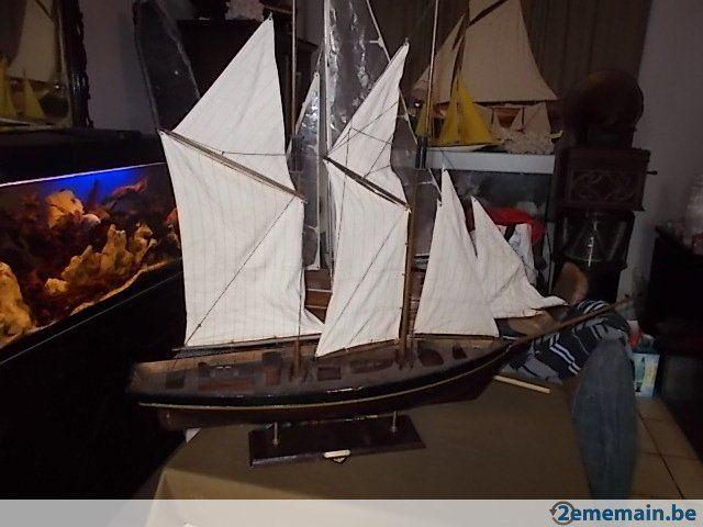 Grande maquette voilier en bois nuevo corazon 1885 - A vendre