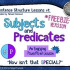 Sentence Structure Lessons #1 (FREEBIE Version): Subjects