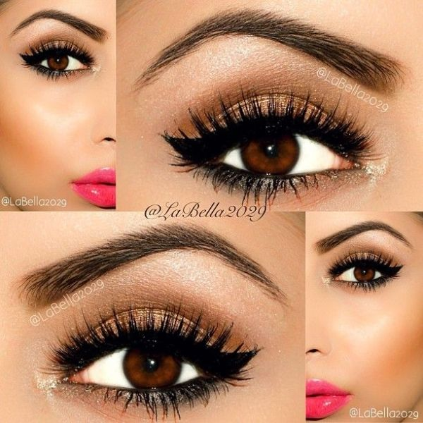 Great eye makeup for brown eyes by kitty can-can.... My eye makeup for graduation!