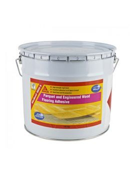 Sikabond 5500S Wood Flooring Adhesive 16kg. Expensive but suitable for use with underfloor heating