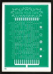 Grow Your Own Calendar by Bold and Noble, Stand J05, Hall T5, Tent London 2013, www.boldandnoble.com/