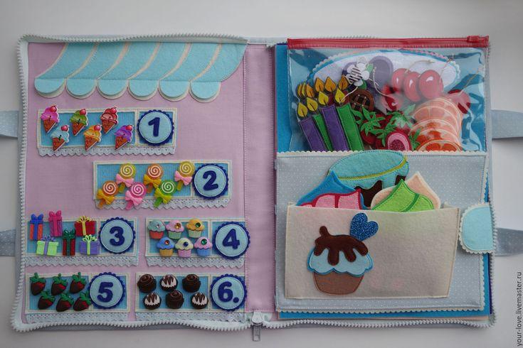 """Купить Развивающая игрушка """"Магазин сладостей"""", возраст  2,5+ - голубой, мороженое, пирожное, торт"""